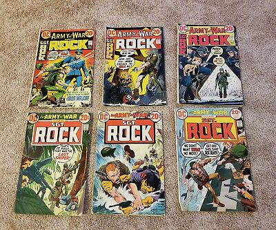 Our Army At War Sgt. Rock #251, 252, 255, 256, 258, 259