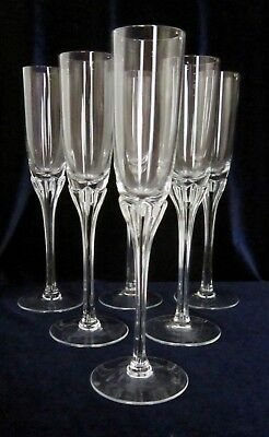 Belfor Czech Exquisite Tall Liquor Cocktail Crystal Glasses - Set of 6 - 7.5 in.