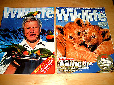 2 BBC Wildlife Magazines November 1998 And April 1997 Issues.