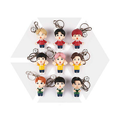 Exo Smtown Giftshop Official Goods Figure Key Ring Keyring + Photocard + Mirror