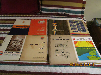 GULF GAS OIL CO MANUALS GUIDE BOOK Lot of 8