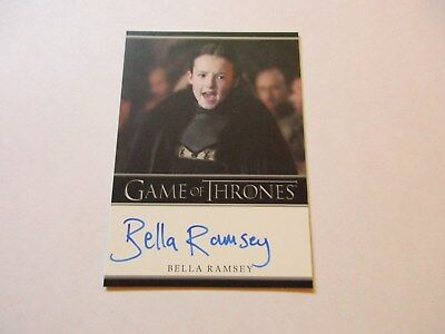 Game of Thrones Season 7 * Bella Ramsey / Lady Lyanna Mormont Bordered Autograph