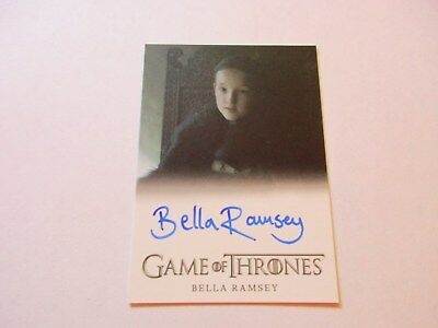 Game of Thrones Season 7 * Bella Ramsey Lady Lyanna Mormont Full Bleed Autograph