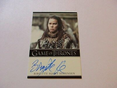 Game of Thrones Season 7 - Birgitte Hjort Sorensen as Karsi Autograph Card