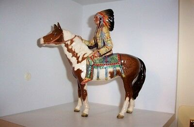 Very Rare Beswick Red Indian On Horseback.... Damaged As Found.