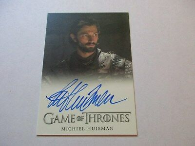 Game of Thrones Season 7 - Michiel Huisman as Daario Naharis Autograph Card