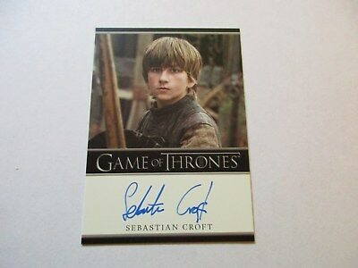 Game of Thrones Season 7 - Sebastien Croft as Young Ned Stark Autograph Card