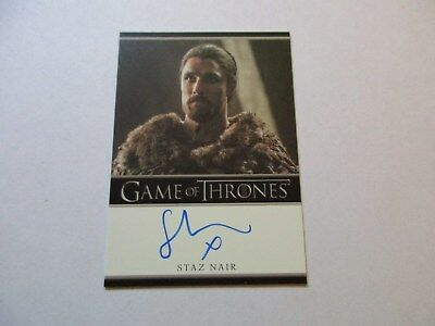 Game of Thrones Season 7 - Staz Nair as Qhono Autograph Card