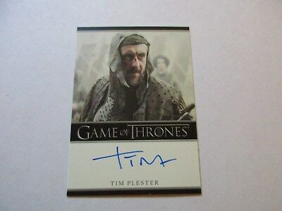 Game of Thrones Season 7 - Tim Plester as Walder Rivers Autograph Card