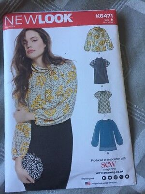 NEW LOOK K6471 Sewing Dressmaking Pattern Tops Size 10 - 22 ...