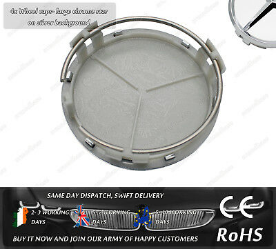Mercedes Benz A CLA C E ML Class Centre Alloy Wheel Hub Badge Caps Emblem Logo