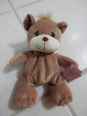 New 1997 Enesco Tender Tails Stuffed Plush Beanie Bear Precious Moments