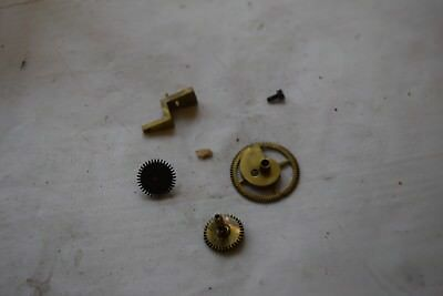 antique  french clock hour and minute gear wheels