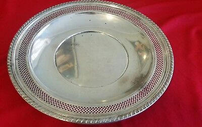 Scrap or use.  Sterling Tray Bowl/ Dish. . 211g. 9 3/4 inch