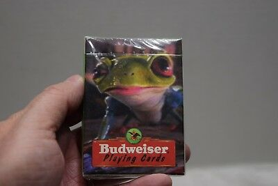 Sealed Budweiser Playing Cards, Frog, 1996