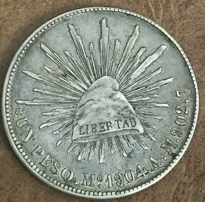 1904 Mexico 8 Reales MAM In Almost Uncirculated Condition K44