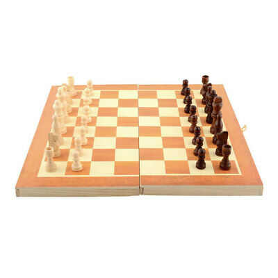 Fun Wooden Chess Set Board Game Foldable Kids Gift