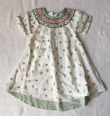 ***BNWT Next baby girl Cactus Embroidered kaftan dress 9-12 months***