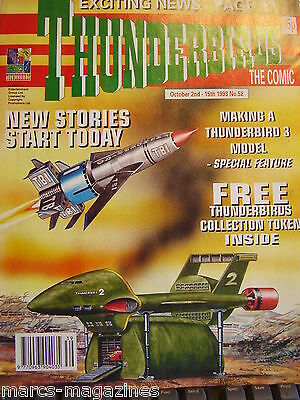 Rare Thunderbirds International Rescue The Comic 1993 Issue # 52 Fireball Xl5
