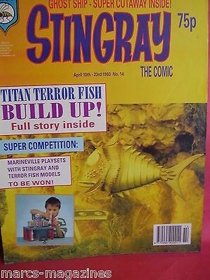 Rare Stingray Wasp Magazine April 1993 # 14 Titan Terror Fish Marina