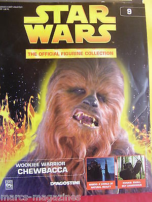 Star Wars # 9 Deagostini  Magazine 2005 Chewbacca Wookie Warrior Naboo Ewoks