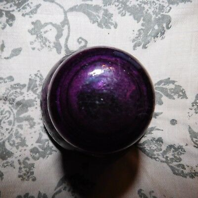 Vintage AGEE Purple Glass Insulator CD490???
