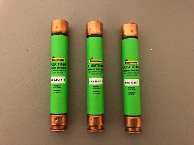 New No Box Fusetron Fuse Frs-R-15 Lot Of 3