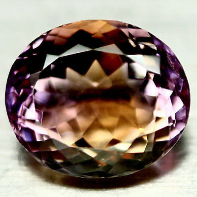 10.01 Ct Aaa Natural Purple & Golden Boliviaian Ametrine Oval