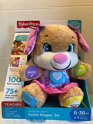 Fisher Price Laugh & Learn Smart Stages Sis Baby Toddler Learning Toy Plush New