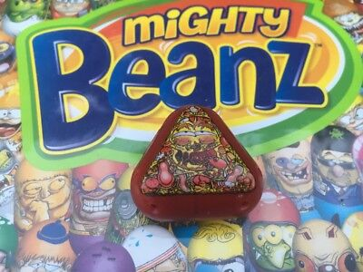Mighty Beanz Triangle Meat Pizza Bean #518 Series 4 Moose Toys Super Rare