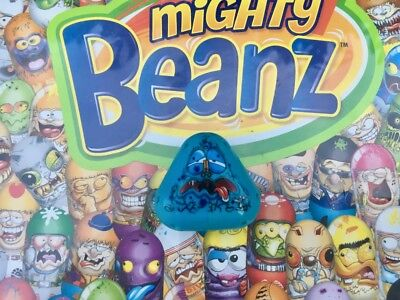 Mighty Beanz Triangle Blue Cheese Bean #513 Series 4 Moose Toys Super Rare