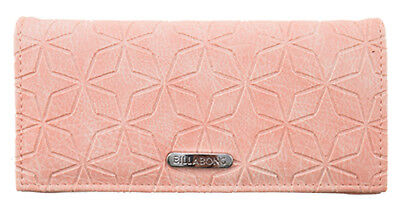 "New + Tag Billabong ""baltic Bay"" Ladies / Girls Tri-Fold Wallet / Purse Rose"