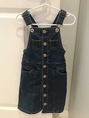 Country Road - Girls Size 3 Denim Overalls Dress
