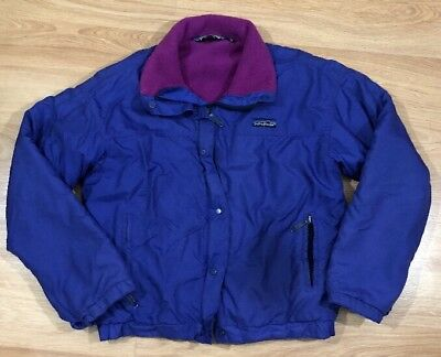 PATAGONIA Jacket Youth 7/8 Purple And Pink Fleece Lined Read Description