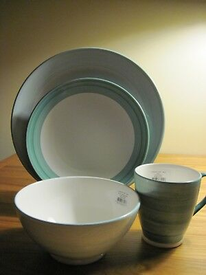 Kate Spade New York ~ Charles Lane Mint~ 4 Piece Place Setting ~ New in Box ~