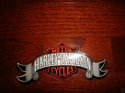 Harley Davidson Vintage Logo Banner Decal (Inside) 5 3/4'' X 2 1/4'' New  Sweet!