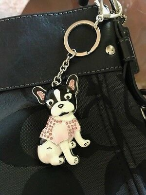 French Bulldog, Boston Terrier, Frenchton Purse Charm Key Chain Charm NWOT!