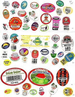 fruit stickers vegetable labels >100 different  (N2)