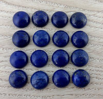 12mm Lapis Lazuli Cabochons 2pc Flat Back Gemstone Cab Colour Enhanced FBC201