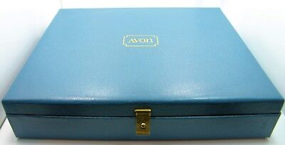 Rare Collectors Vintage AVON Display Box and 21 AVON Rings