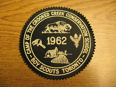 Boy Scouts Toronto Camp of the Crooked Creek 1962 Crest Patch Ontario Canada