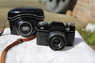 Contaflex S Black Zeiss Ikon Vintage Analogue Camera