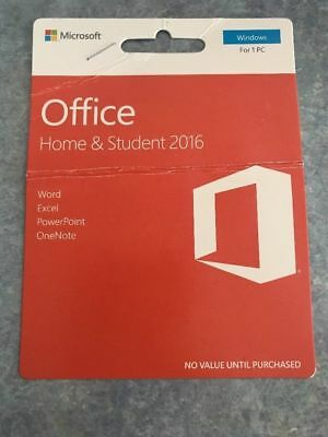 Microsoft Office 2016 Home and Student 1 PC Windows Mac