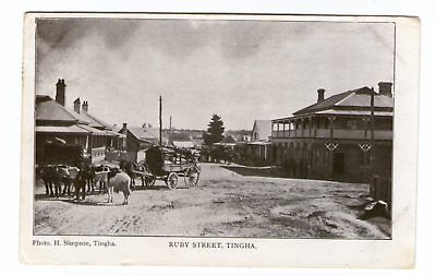 Postcard - Ruby Street, Tingha, N.S.W. - Photo H Simpson, Tingha.