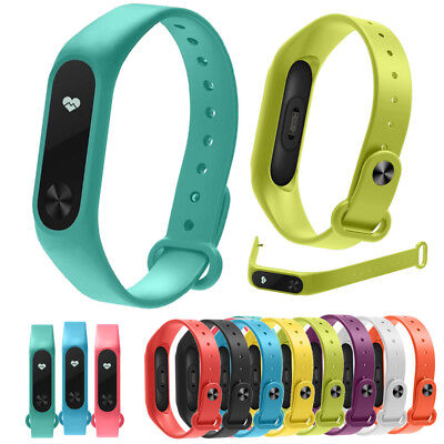10PCS Replacement Silica Gel Wristband Band Strap For Xiaomi Mi Band 2 Bracelet