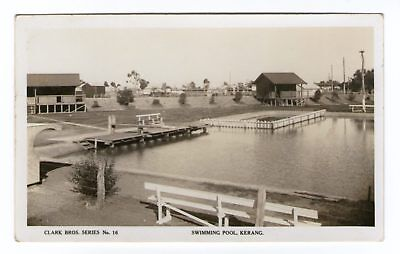 Swimming Pool, Kerang - Clark Bros Series No 16 - Real Photo Type.