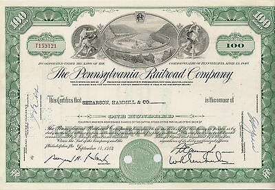 Pennsylvania Railroad Company share Eisenbahn Aktie 1960 - 1964 USA Philadelphia