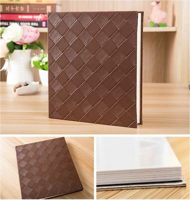 Peel N Stick Self Adhesive PU Woven Cover 20 Pg DIY Photo Album Wedding Book