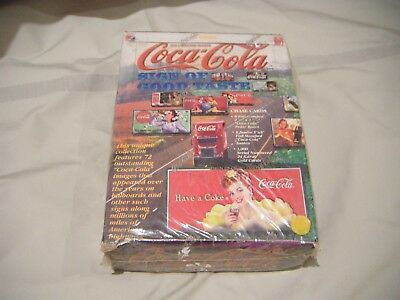 Coca-cola 1996 Collect-A-Card Sign of Good Taste Sealed Trading Card Box 36 Pack