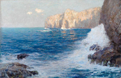 LMOP540 beautiful seascape rock 100%  hand painted art oil painting on canvas